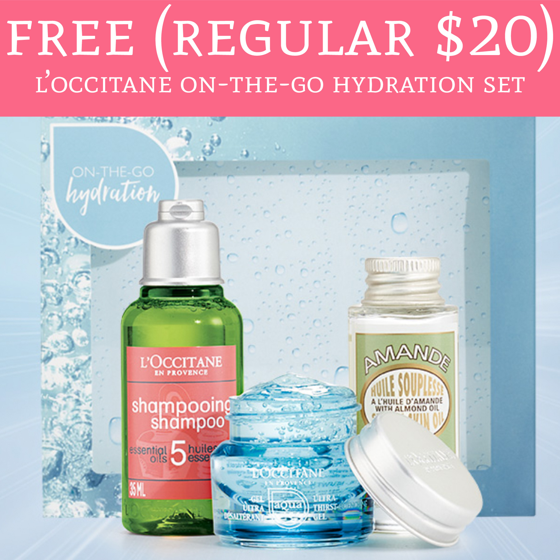 Free L'Occitane Hydration Gift Set (In-Store Only)
