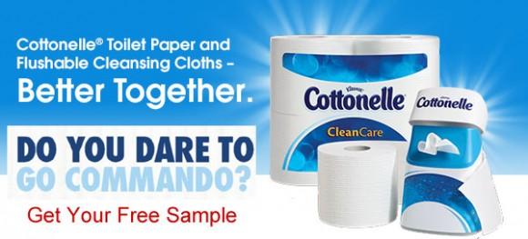 Cottonelle Go Commando Wipe Samples