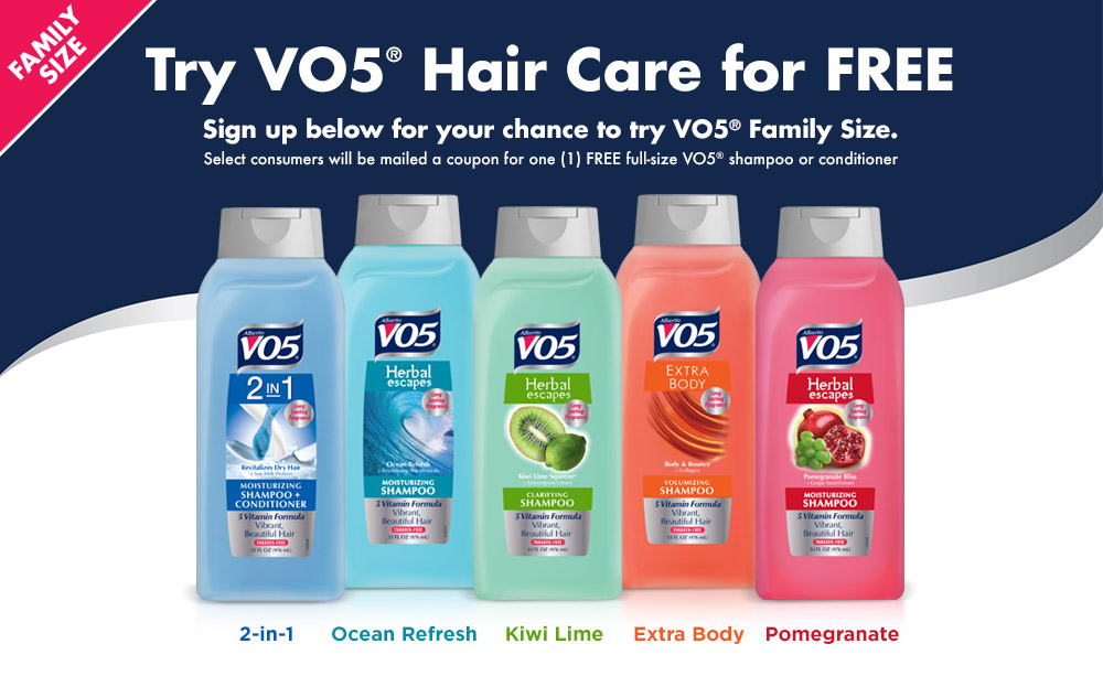 VO5 Shampoo & Conditioner Coupon