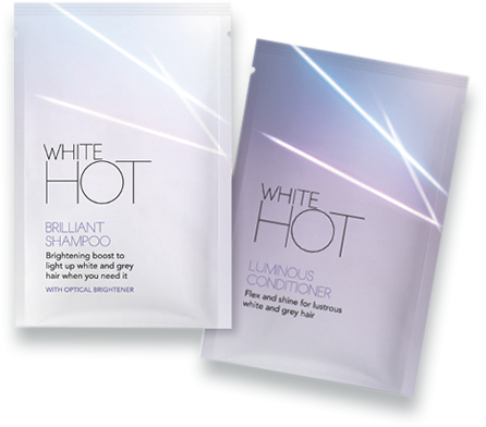 White Hot Hair Shampoo & Conditioner Samples